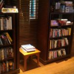 Entertainment Center, books and board games