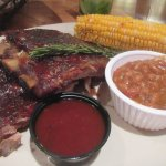 1/2 Rack Pork Ribs, Corn on the Cob, Beans, Rawhide Steakhouse & Saloon, Chandler, Az