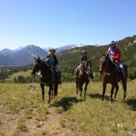 JJJ Ranch-Montana-Family photo on trail ride