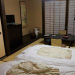 Japanese-style room converted for sleeping