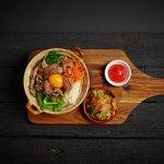 Korean bibimbap with kimchi (GF) Vegetarian option