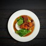 Thai sticky pork belly with jasmine rice and apple slay (GF)