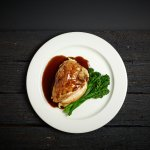 Chicken Breast stuffed with goats cheese and balsamic glaze