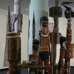 Aboriginal totem poles.