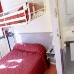 Chambre triple avec 1 lit double et 1 lit superposé