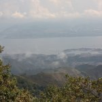 The view from Monte Dinnammare over the Straits of Messina.