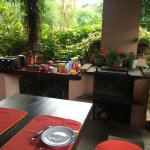 Breakfast area outdoors at Casa Violetta