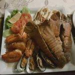 Seafood Basket Dinner (bugs, prawns, mussels, calamari & cab)