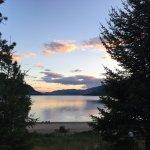 Lake on dusk