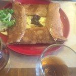 Galettes saumon et boudin noir