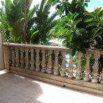 Demandez la chambre 003, rez de chaussée, grand balcon, vue sur la piscine, verdure.