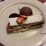 Mil Hojas de Fresas con crema y chocolate