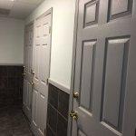 Doors going into shower rooms