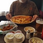 Great Cod-Fish and chips + Clams and a Harp...Outstanding!