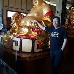 The welcoming Maitreya statue