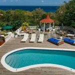 Pool and gazebo overlooking the Caribbean