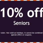 10% Off for Seniors!