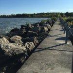 Scenic views of Lake Erie.