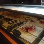 Selection of cakes in the Aroma coffee shop