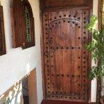 Porte donnant sur la chambre, à côté de la terrasse