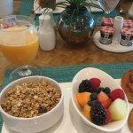 Healthy continental breakfast