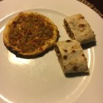 Lahmacun, also known as 'Turkish pizza' and ground meat 'crepe' both excellent starters