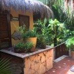 petite terrasse pour accès aux chambres