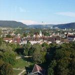 Herrliche Aussicht vom Turmrestaurant. über Zurzach. Blick Richtung Zürcher Unterland,