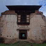 Front of the dzong, this is s far as you are allowed now