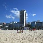 Vista desde la playa donde tiene el servicio de playa
