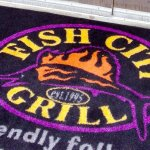 Entrance to Fish City Grill, Georgetown, TX