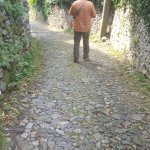 rocky and very steep path to town