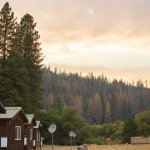 Back of cabins (sleeps 4 cabin)