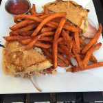 Monte Cuban with Sweet Potato Fries