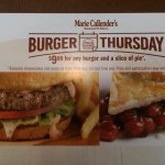 Free slice of pie with a burger on Thursday