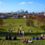 View from the top of the hill in Greenwich Park