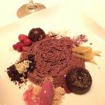 Chocolate & passionfruit mousse. Sweet, tart & delighfully refreshing