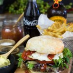 Woodfired Beef Burgers, prime beef free range egg salad cheese , , Check out our burger bar menu