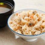 朝食:深川めし Simmered Clam Rice