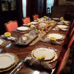 The breakfast table setting showed a lot of flair and care!