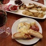The raclette platter for 2