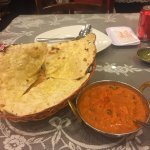 garlic naan and their chicken curry