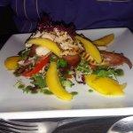 Chicken, bacon mango salad