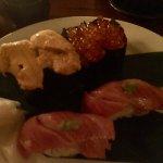 Uni, Ikura and Toro sushi...amazing.