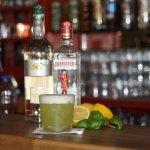 Basilikum und Gin