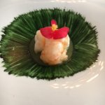 Norway lobster with sea garlic sauce