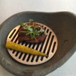 grilled duck with corn