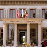 Main Entrance from Restaurant Vieux Bois at Hotel Management School of Geneva
