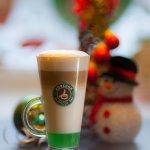 кофе латте с фисташковым сиропом