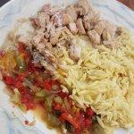 Le Buffet Lou Pèbre d'Aï (au choix 2 plats principaux, souvent poisson ou viande)
